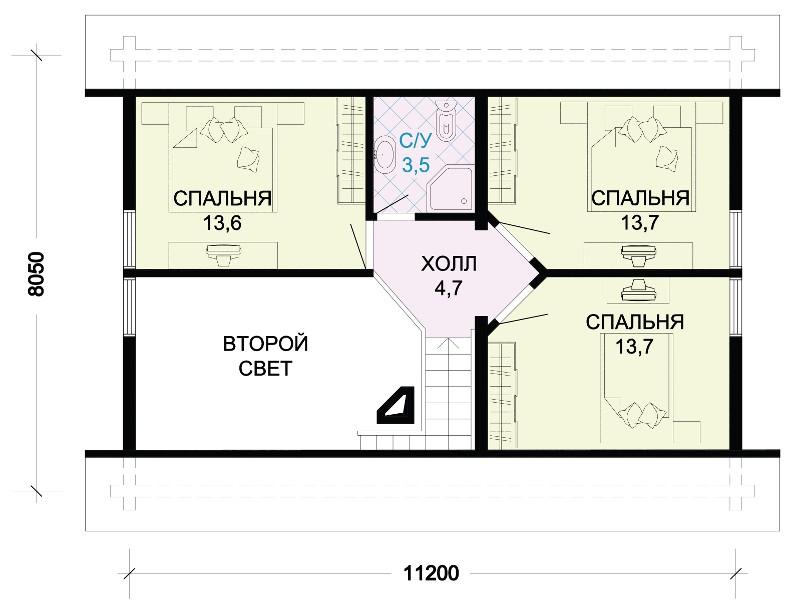 Проект большого одноэтажного дома из пеноблоков L2531P