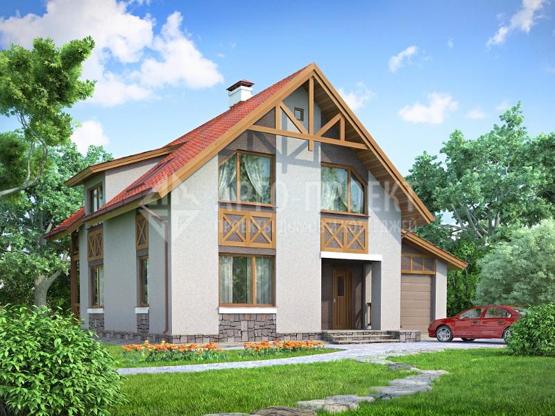 проекты домов эконом класса с мансардой из пеноблоков