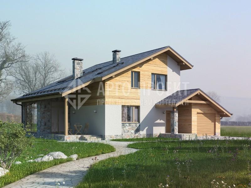 Проект дома, в котором пеноблоки или газобетон являются материалом для стен, экономически