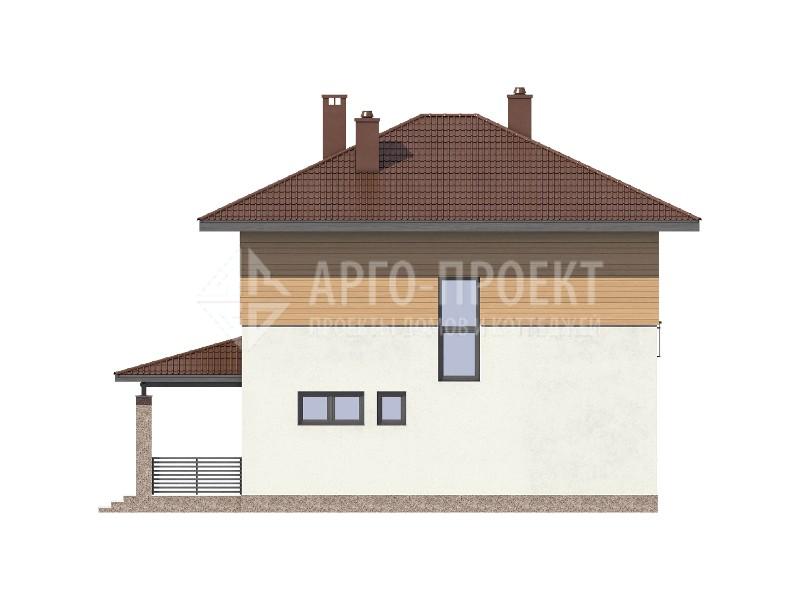 Проект и планировка загородного дома 6 на 8 с баней и сауной