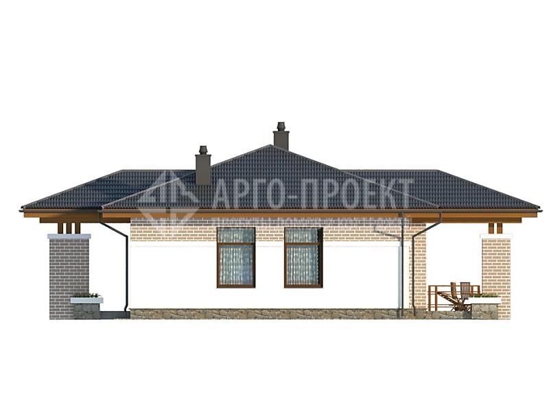 Проект дома из пеноблоков E0911P
