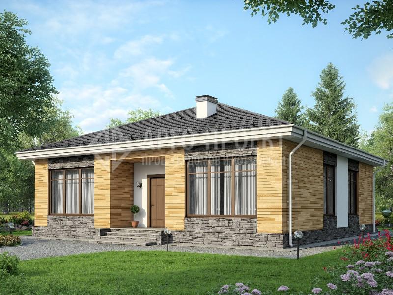 0d2792783fcf U-037 Проект одноэтажного коттеджа из газобетона - Проекты домов из ...