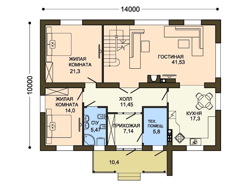 Загородный дом с фасадом серого цвета – 950 кв м, фото