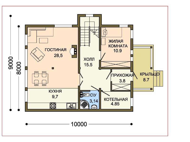 Высота дома 7800 мм автор проекта проект
